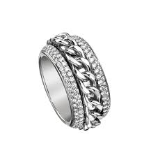 piaget ring piaget possession classic chain motif ring in 18k white gold