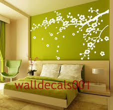 tree decals for walls six birch trees decalswall decal nature vinyl wall decals wall stickers tree decal flower by