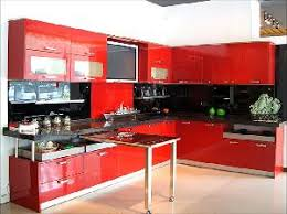 Red Gloss Kitchen Cabinets Glossy Kitchen Cabinets Fashionable Design Ideas 1000 Ideas About