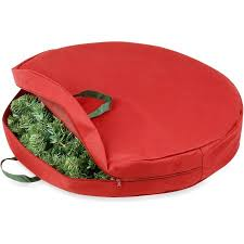 honey can do 30 canvas wreath storage bag with easy open zipper