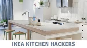 how to make a kitchen island using ikea cabinets ikea kitchen hack diy kitchen island ikea kallax hacks