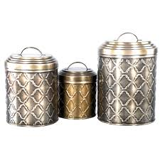 Decorative Canister Sets Kitchen Stainless Steel Kitchen Canister Set 3 Piece Steel Pop Container