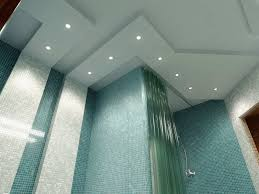 Bathroom Lighting Ceiling Bathroom Modern Bathroom Lighting In White Themed Bathroom With