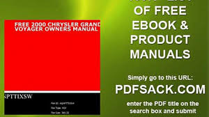 free 2000 chrysler grand voyager owners manual video dailymotion