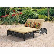 Umbrella Side Table Outdoor Chaise Lounge Umbrella Side Table Double Seats 2 Patio