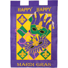 large mardi gras happy mardi gras large flag 00179 mardigrasoutlet