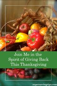 join me in the spirit of giving back this thanksgiving