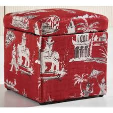 china printed fabric storage cube ottoman from shenzhen trading