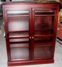 Cherry Wood Bookcase With Doors Sauder 2 Shelf Bookcase Select Cherry Finish Kitchen
