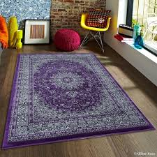 Purple And Grey Area Rugs Allstar Purple Grey Dense High Pile Rug 5 3 X 7 5