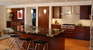 wondrous modern kitchen ideas with pendant light over island also furniture inspiration plush mahogany cabinets for retro kitchen accent ideas wondrous modern