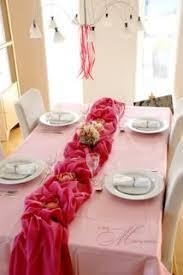 fuschia pink table cloth turquoise pinwheel table linen fuchsia rosette table runner white