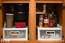 Organizing The Cabinet Under The Kitchen Sink Lansdowne Life - Kitchen sink cupboard