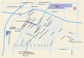 Las Vegas Strip Hotels Map by Las Vegas Maps