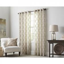 White And Brown Curtains Shop Curtains Drapes At Lowes 1 2 Mini Blinds Inch Faux Wood