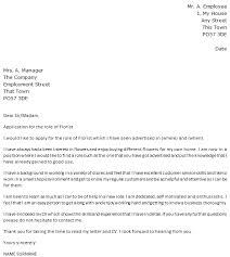florist cover letter example u2013 cover letters and cv examples