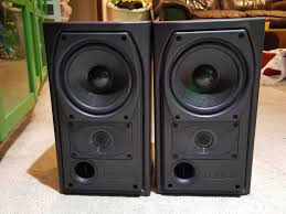 mission 731 150watts 2 x 75 stereo bookshelf speakers made in
