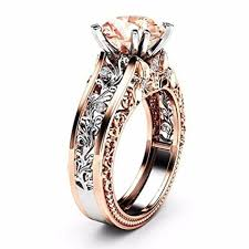 luxury gold rings images Wensltd clearance women 39 s luxury rose gold plated jpg