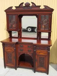 furniture english antique sideboard hutch server buffet cabinet