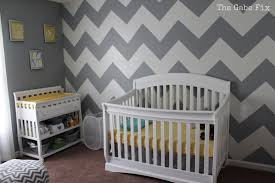 grey and white chevron room decor good baby nursery terrific