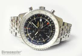 breitling steel bracelet images Breitling navitimer world automatic chronograph leather strap and jpg