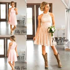 2017 country style collar beaded short bridesmaid dresses
