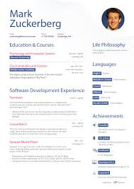 resume with picture sample what zuckerberg s resume might look like business insider mark zuckerberg pretend resume first page