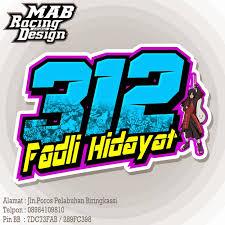 gambar desain nomer racing mab racing design desain nomor start road race drag bike