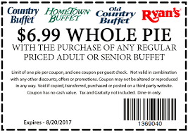 Hometown Buffet Jobs by Hometown Buffet Coupon 6 99 Whole Pie With Or Senior