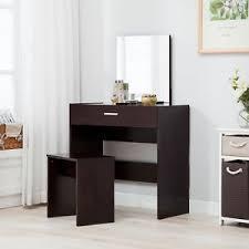 vanity espresso dressing table u0026stool set makeup dresser desk with