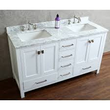 60 Inch White Vanity Buy Vincent 60 Solid Wood Bathroom Vanity In White Hm