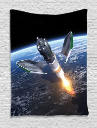 Rocket Ship Curtains by Launch Cargo Spacecraft Rocket Ship Take Off Cosmos Photo Wall