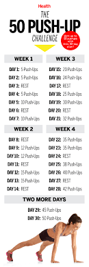 Challenge Up This 50 Push Up Challenge Will Transform Your In 30 Days Health