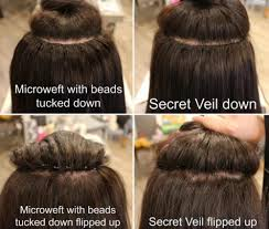 invisible hair secret veil the 1 hair extension method that is 100 invisible