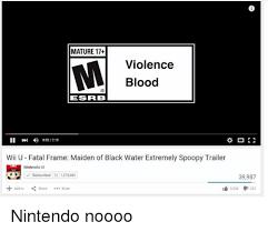 Wii U Meme - mature 17 violence blood eskrb ii 002218 wii u fatal frame maiden