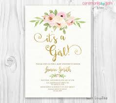baby shower invites for girl it s a girl baby shower invitation blush and gold pink