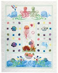 wee sea quilt pattern raw edge applique baby quilt