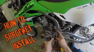 how to sprocket removal and installation klx250s youtube