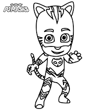 pj masks coloring pages getcoloringpages