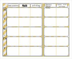 weekly lesson plan template elementary cda binder u0026 portfolio