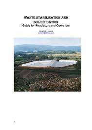 waste stabilisation and solidification guide for regulators u0026 operat u2026
