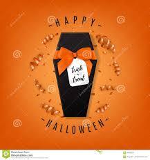 halloween orange background halloween orange background with realistic gift box stock vector