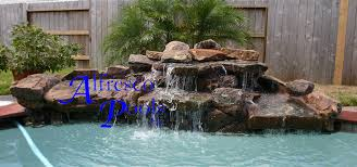 rock waterfalls for pools standard pools with 7 foot spa flagstone coping add waterfalls