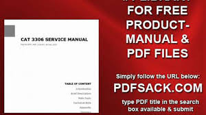 cat 3306 service manual video dailymotion