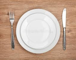 how to set a table with silverware empty plate and silverware set stock photo image of restaurant