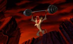 Lion King Cell Phone Meme - rafiki getting serious about his weightlifting routine in disney s
