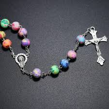 unique rosaries unique colorful clay rosary 50 catholic e store