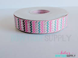 printed ribbon wholesale wholesale ribbon holographic chevron bow supplies