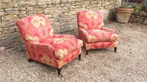 Comfortable Armchairs Pair Of Howard And Sons Comfortable Armchairs 1890 To 1910