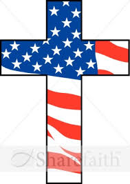 cross with flag independence day clipart